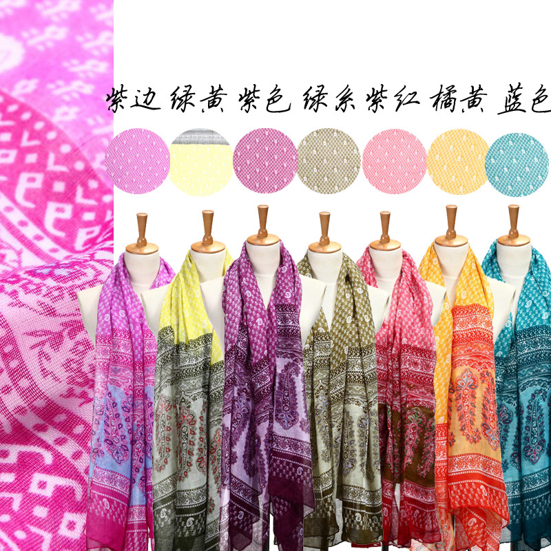 Spring Warm Voile Scarf Super Cashew Spend National Wind Scarf Shawls X(China (Mainland))