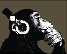 The Chimp Stereo Headphones Art Print Poster Print (60x90cm) diy wall stickers for kids rooms
