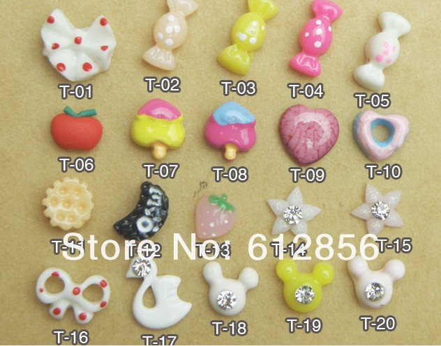 1000pcs/lot lovely kawaii flat back resin cabochons DIY decoration Cell Phone Nail Art Beauty Ornament Design(China (Mainland))