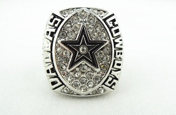 High Qualiity Replica 1992 Dallas Cowboys Super Bowl championship ring Size 10 solid replica(China (Mainland))