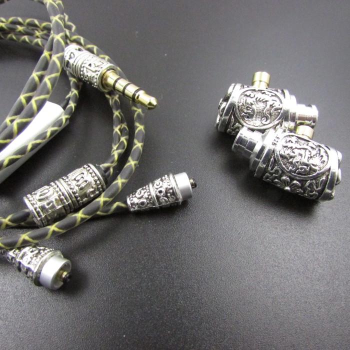 Tibetan silver earphone National identity earphone Handmade earphone bass Separable earphone with mic