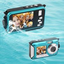 2016 Newest 2.7inch TFT Digital Camera Waterproof 24MP MAX 1080P Double Screen 16x Digital Zoom Camcorder(China (Mainland))