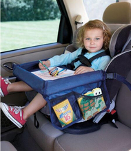 Child Car Seat Tray Waterproof Storage Children Toy Tray Toy Holder Tray Desk Infant Stroller Board Table Child Car Seat Tray(China (Mainland))