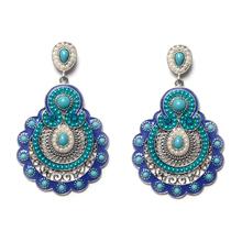 Vintage Bohemian Earrings For Women 2016 Tibetan Jewelry Retro Imitation Pearl Big Earrings Indian Ethnic Chandelier Earrings(China (Mainland))