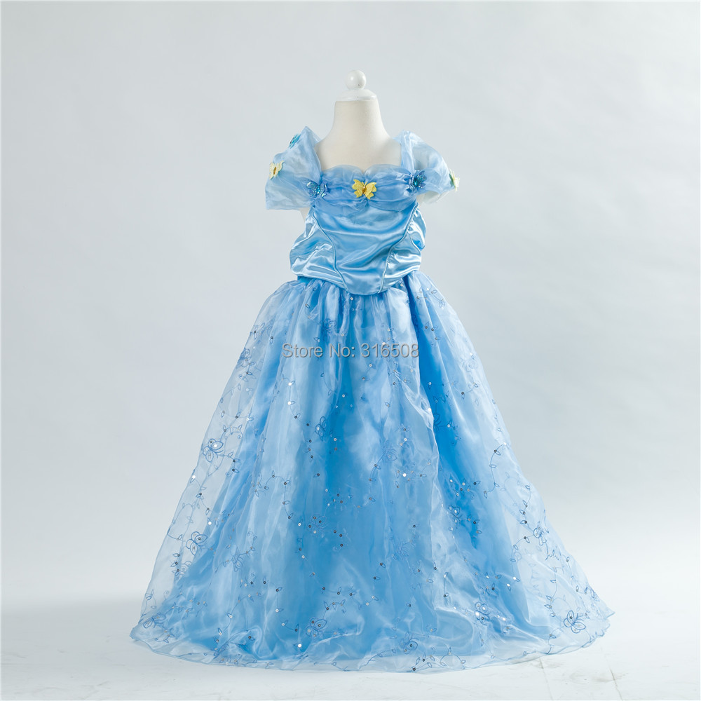 DHL 1Lot 2015 Summer Girls Dresses Baby Girl Cinderella Princess Dress Bows - Children Edenn Store store