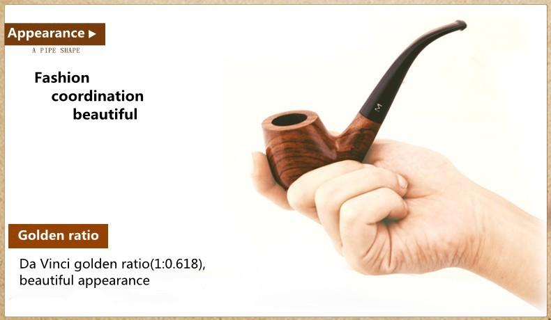 New Men s Classic Wooden Tobacco Smoking Pipe Loop Filter Smoking Rosewood Pipe Men s Wood