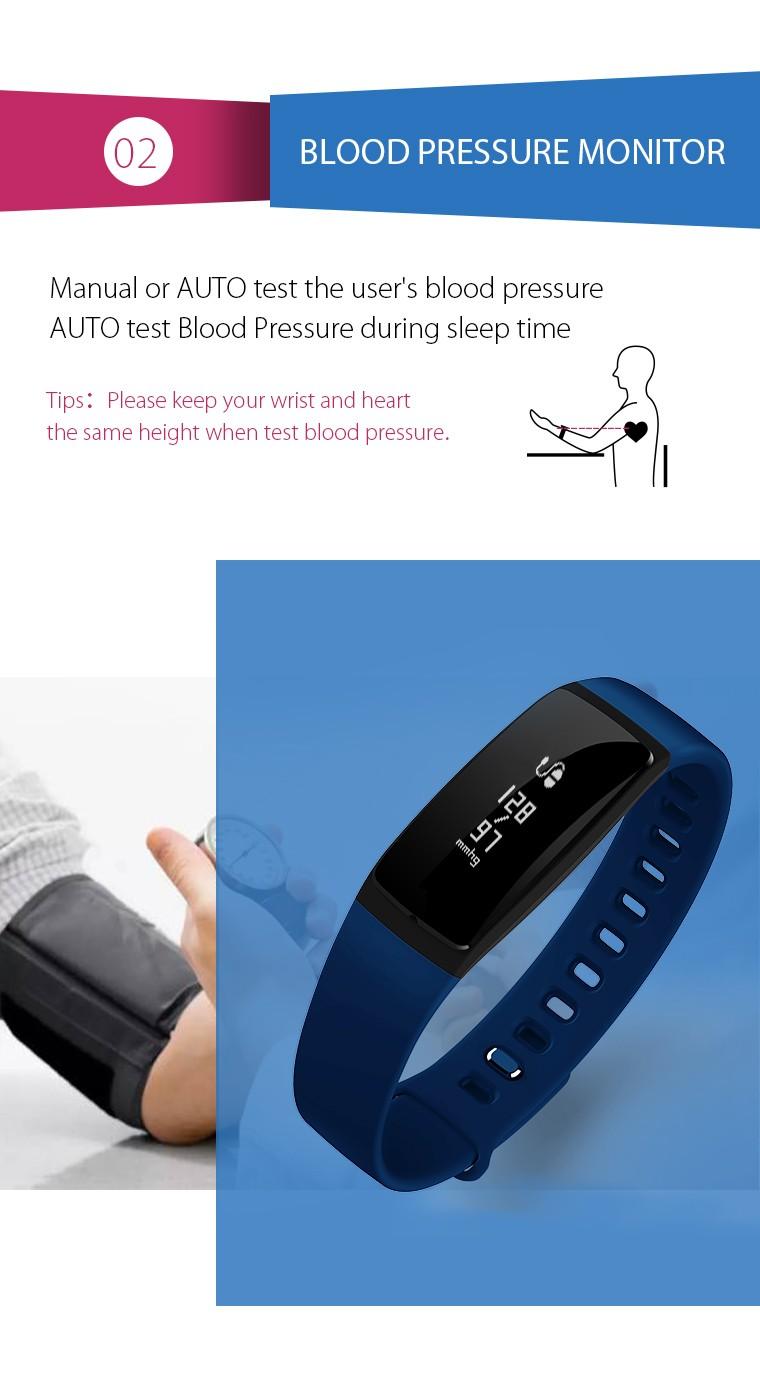ถูก สมาร์ทวงความดันโลหิตนาฬิกาV07สมาร์ทสร้อยข้อมือนาฬิกาH Eart Rate Monitor S Martbandไร้สายการออกกำลังกายสำหรับA Ndroid IOSโทรศัพท์