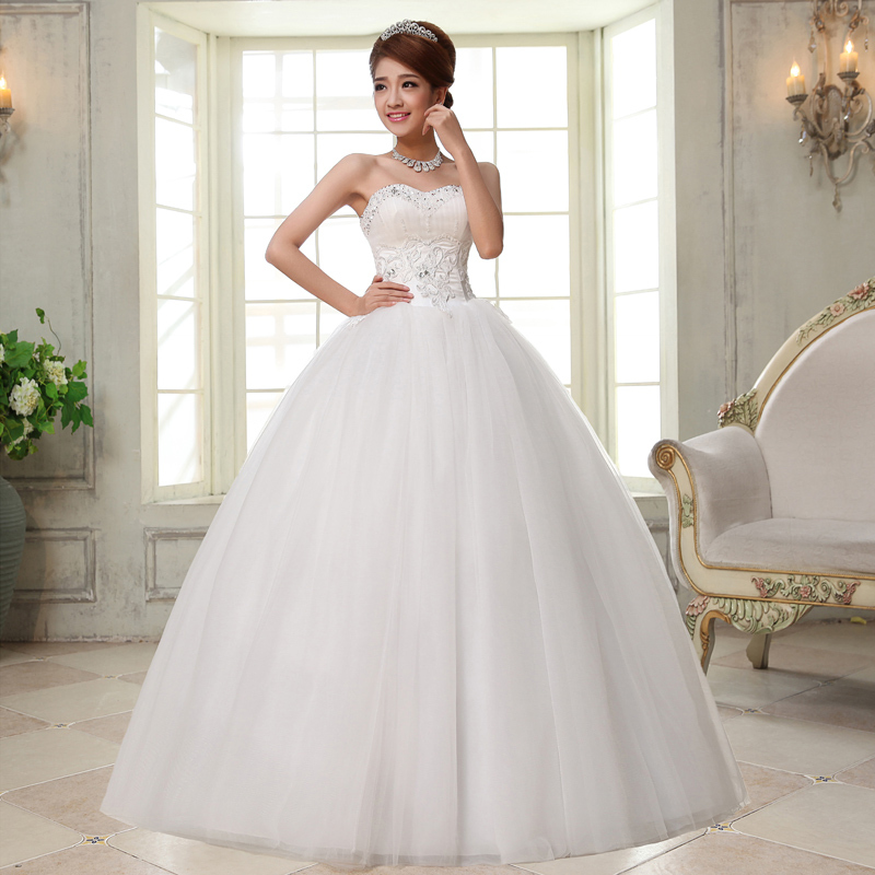 Buy fashion crystal wedding dress lace up for Best stores for dresses for weddings