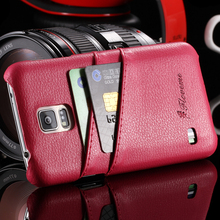 Mobile Phone Accessories Genuine Leather Cover For Samsung Galaxy S5 SV i9600 Lychee Grain Back Cases