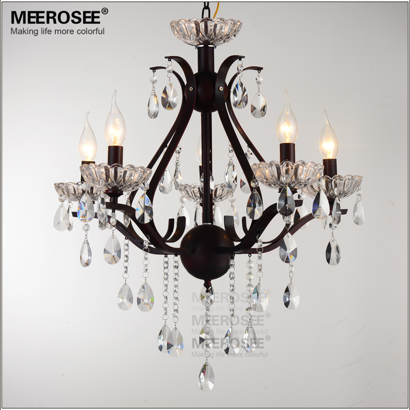 5 lights antique crystal chandelier light k9 crystal for Dining room 5 light chandelier