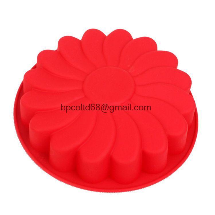 Silicone Cake mould single flower DIY baking Cake Pan Sun flower jelly mold FDA quality CDSM-124(China (Mainland))