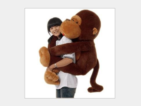 Diamond lovely children's creative big gorilla monkey BIG JUMBO stuffed animal doll soft plush toy monkey valentines 80CM(China (Mainland))
