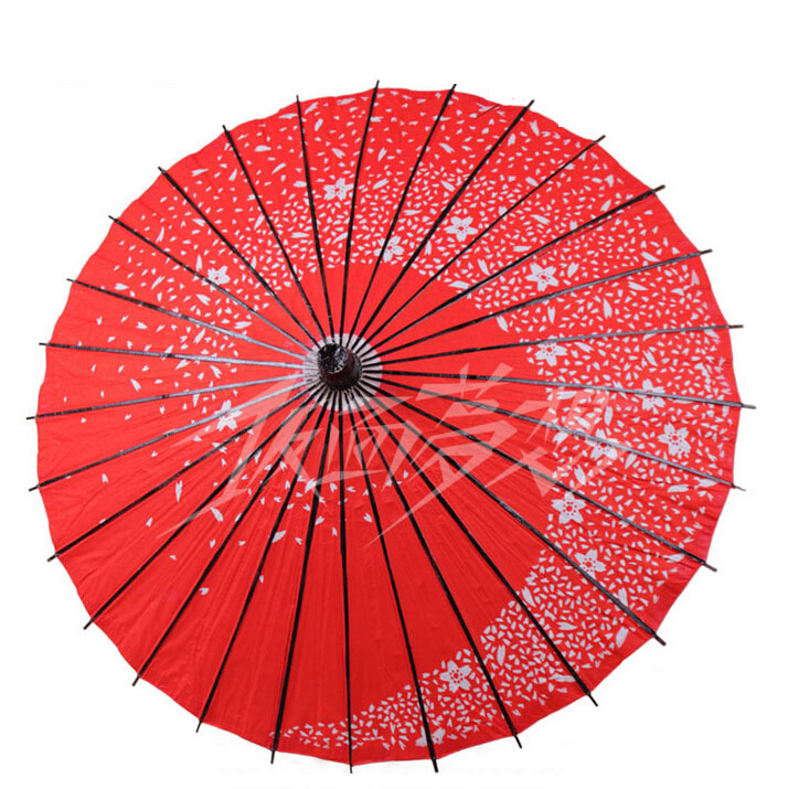 Free Shipping Cosplay umbrella japanese style paper umbrella endulge umbrella red female cosplay props(China (Mainland))