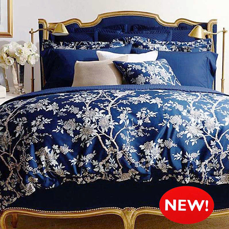Royal blue bedding sets search results dunia pictures for Housse de couette soie