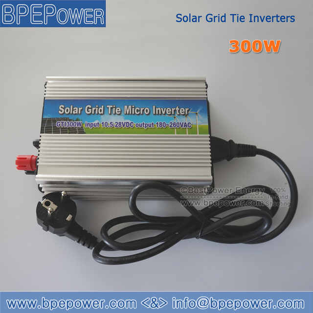 2PCS X 300W Grid Tie Inverter, Pure Sine Wave Inverter DC10.5-28V On Grid Inverter Suitable for 300-420W 18V PV Module