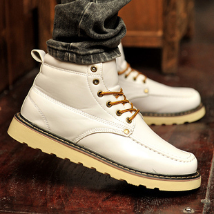 2015 New Platforms Men Shoes Waterproof Round Toe Casual Shoes England Style Martin Boots Winter 55