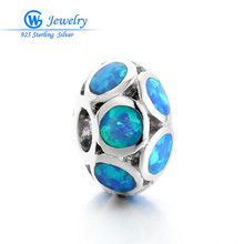 Buy Top sell New Cool Style Blue Opal Silver Stamped Charm Women Jewelry Gems Jewelry GW Jewelry FX006H35 for $7.92 in AliExpress store