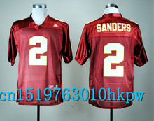 2017 Nike North Carolina Tar Heels Deion Sanders 2 Red Color College Nike Sweatshirts - Size S,M,L,XL,2XL,3XL Free Shipping(China (Mainland))