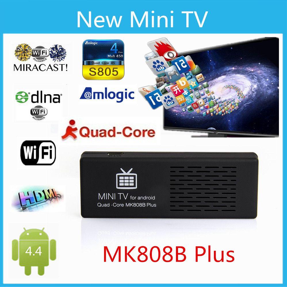 MK 808B PLUS Android 4.4 TV mini tv Box Bluetooth WiFi HDMI Quad-Core 8GB mini pc android mk808 HD 1080P player(China (Mainland))
