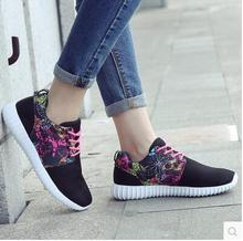 2016 spring and summer flat soft outsole female light breathable shoes network all match casual shoes