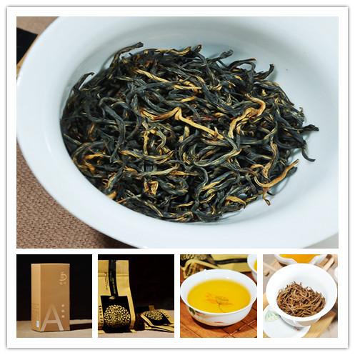 75g jinjunmei black tea new Keemun Chinese black tea Wuyishan Lapsang Souchong black tea gift box drinking to keep health(China (Mainland))