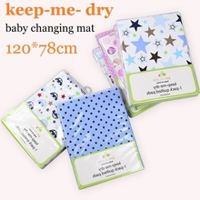 baby care bedding 120*78cm Large size baby changing pads& covers waterproof breathable newborn sheets diaper urinal changing mat