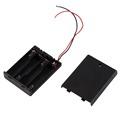 image for 3 Pcs Open Frame 3.7V 18650 Battery Holder Cell Box Batteries Case Bla