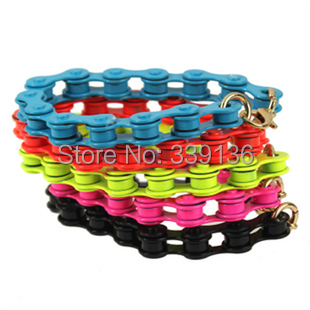 Punk Gothic Fashion Vintage Neon Color Bicycle Link Chain Bracelet Heavy Metal Bracelets 9 Colors - BEYOND JEWELRY (No minimum order limit store)