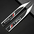 2016 Hot 2pcs 3D Metal Car Fenders lettering Sticker Emblem for Toyota Dagger Black TRD