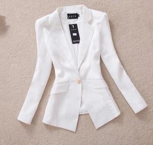 Новый 2015 пиджак женщин весной корейской тонкий золотой пряжкой костюм дамы осень пр blaser feminino верхняя одежда женский свободного покроя пиджаки S-XXL
