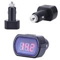Top Quality KW204 Mini Digital LED Car Vehicle System Detector Voltmeter Voltage Meter Jun 15