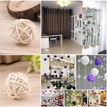5 Pcs Wedding Rattan Ball Festival Christmas Tree Ornament Home Garden Decoration Worldwide Store(China (Mainland))