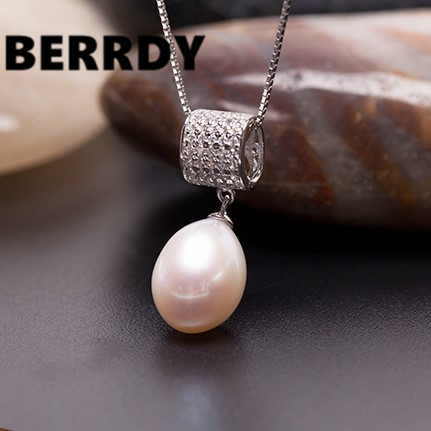 3 color Real Freshwater Natural Pearl Pendant Necklace Chain Fashion Exquisite Women Accessory(China (Mainland))