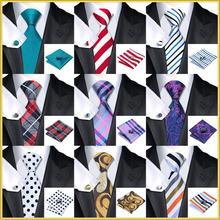 40 Style Tie hanky cufflink Sets 2015 Fashion 100% Silk Neckties Ties for mens gravata  For Wedding Party Business Free Shipping(China (Mainland))