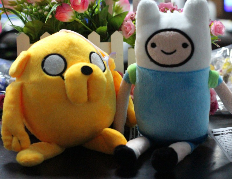 Cartoon Network Adventure Time JAKE and FINN Plush Doll Toy Figure 7inch 20pcs.lot<br><br>Aliexpress