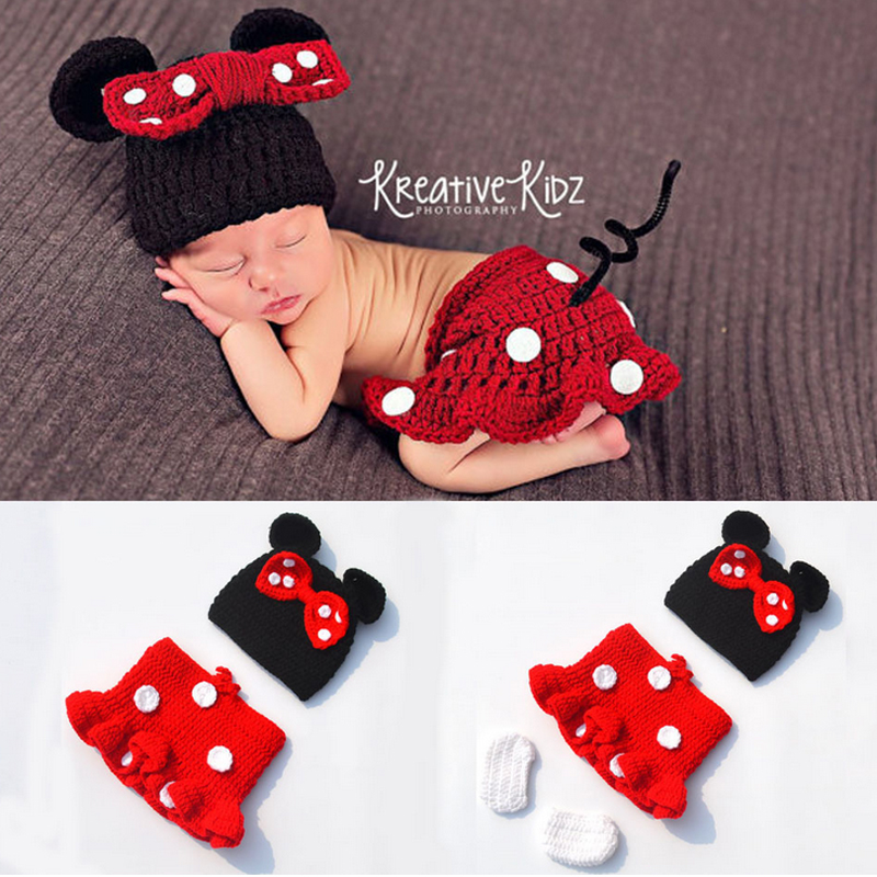 Lovely!Newborn Photography Prop Newborn Crochet Baby Cap/Hat Newborn Crochet Outfit Photography Props Baby Clothes Drop Shipping(China (Mainland))