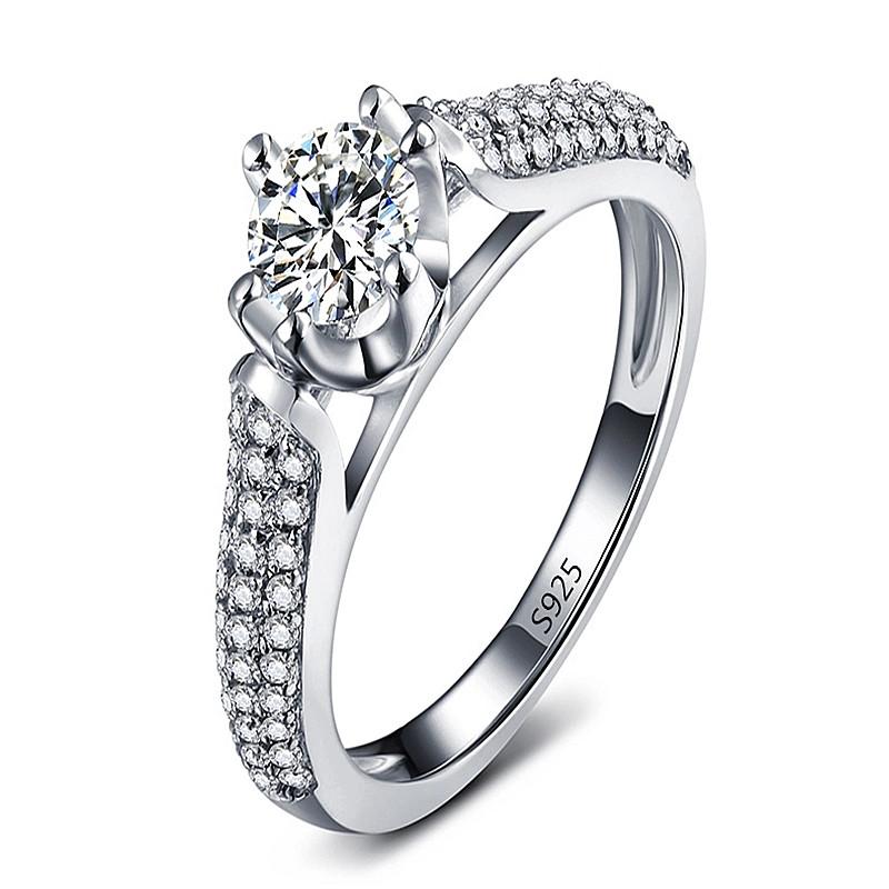 18k White gold plated ring fashion jewelry wedding Rings for women 2ct AAA zirconia diamond romantic ringen wholesale LSR0365(China (Mainland))
