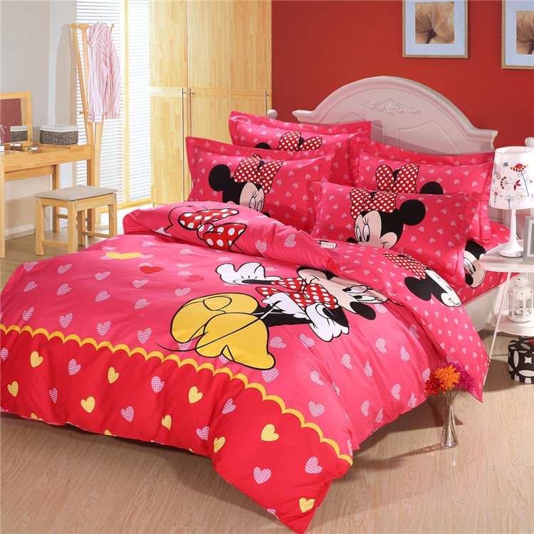 Mickey Mouse King Size Bed Sheets