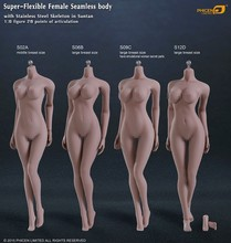 2015 Phicen figure toy 1/6 femal body no head version Wheat Skin colour 1/6 phicen large Middle breast size body(China (Mainland))