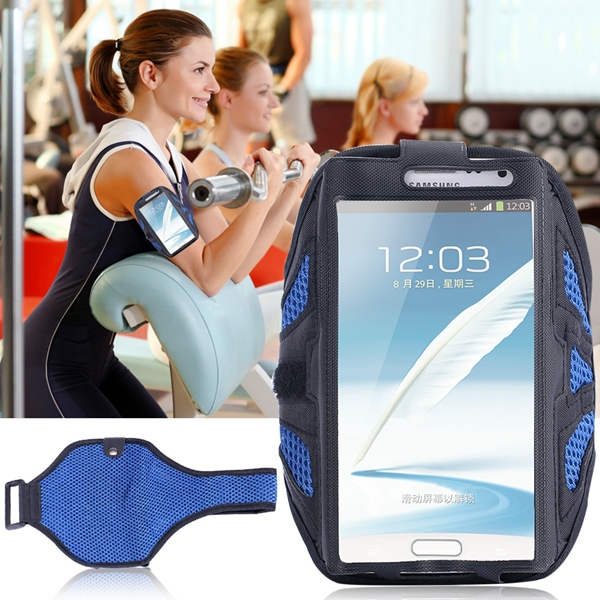 Waterproof Breathing Holes GYM SPORTS Armband Case for Samsung Galaxy Note 4/3/2 Workout High Permeability Arm Band Fashion