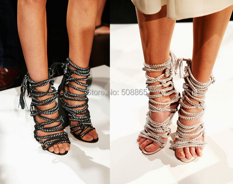 Designer Lace up Sandals High Heels Lace up Sandals