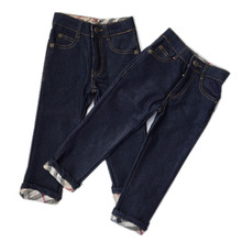 Casual boys jeans brand kids clothes new 2015 children clothing classic plaid design boy pants quality guaranteed denim trousers(China (Mainland))