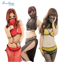 1pcs Sexy Belly Dance Costume Dance Skirt  Sexy Lingerie Stockings Open Crotch Women Mask Belly Dance Costumes Erotic QQ035