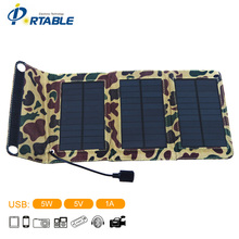 5W Portable Folding Solar Panel Mobile Phones Charger In Travelling Outdoor(China (Mainland))