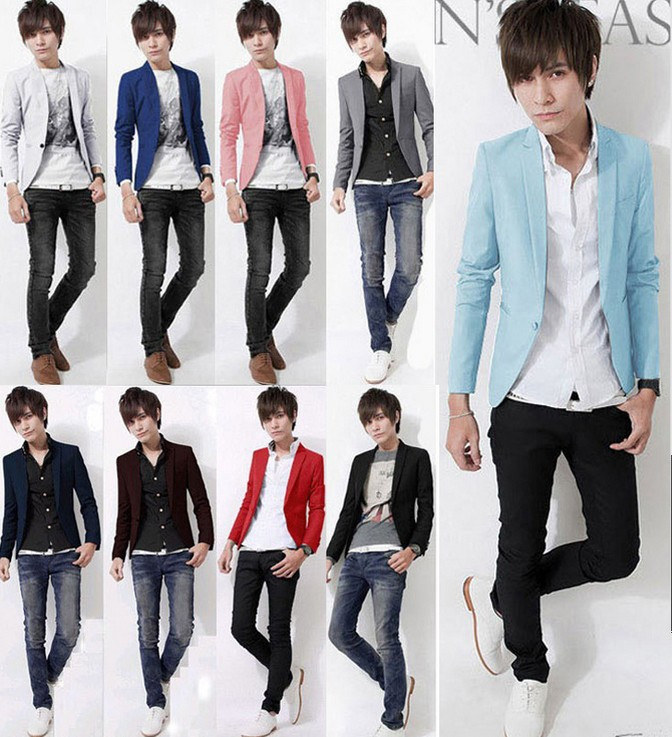 Promotion!Plus size Male 2014 new spring autumn blazer men slim formal thin suit many colors - Online Store 923589 store