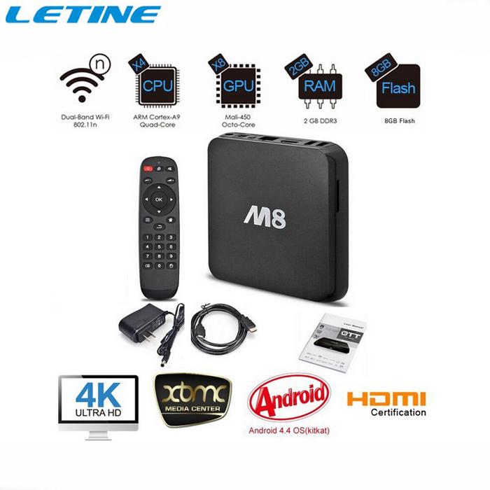 Original 4K 1080P Dual Wifi 2.4/5.0G DDR3 2GB 8GB Quad Core M8 XBMC IPTV TV Box Android 4.4 Kitkat 1080P Amlogic S802 PC OTT(China (Mainland))