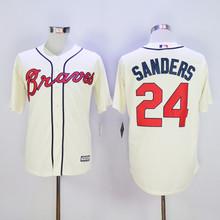 Mens Atlanta Braves Baseball Jerseys #24 Deion Sanders Stitched Home Road Alternate Top Quality(China (Mainland))