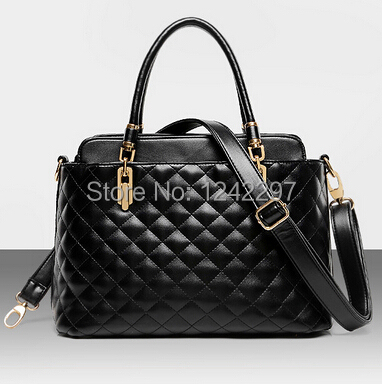 New Arrivals Fashion Women's Handbags Brand Design Plaid Tote Shoulder Bags Ladies Messenger Bags 0.9/2(China (Mainland))