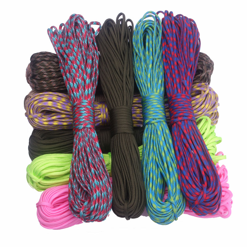 210 Colors Paracord 550 100FT Paracord Rope Cuerda Escalada Mil Spec Type III 7Strand Paracorde 550 Outdoor Survival Equipment(China (Mainland))