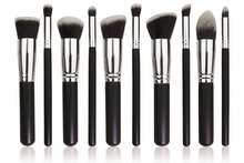Premium Synthetic Kabuki Makeup Brush Set Cosmetics Foundation Blending Blush Eyeliner Face Powder Brush 10pcs/set